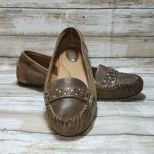 Fossil loafers, brown, sz 10, EUC